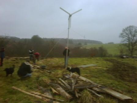 Installation de l'éolienne